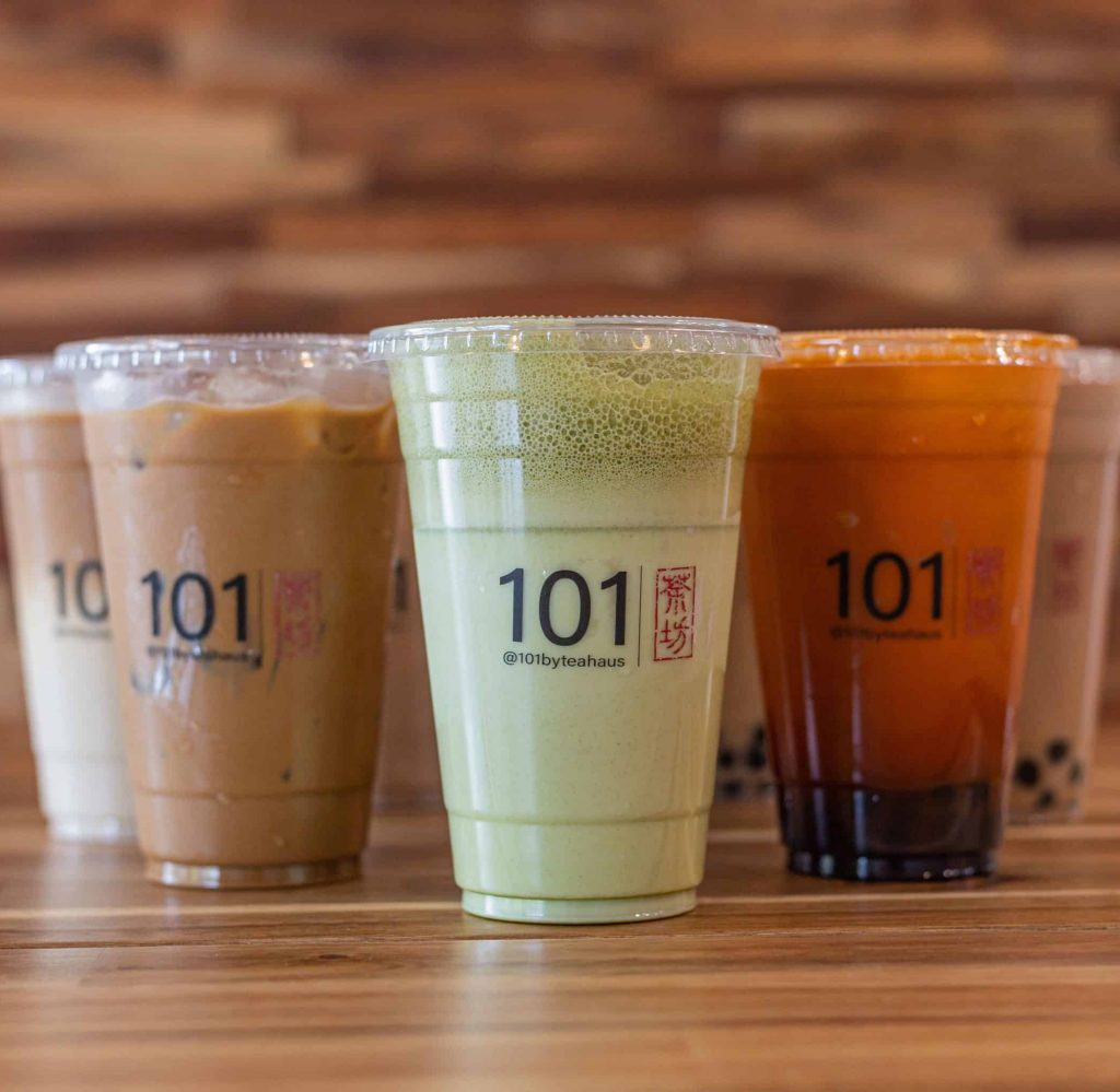 Matcha Green Tea, Coffee, Thai Tea